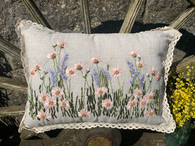 Pink/Lavender Wildflower Rectangle Cushion