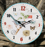 Bird And Butterfly Wall Clock