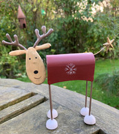 Red Quirky Metal Reindeer Decoration
