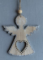 Sparkly Wooden Hanging Angel