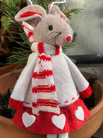 Red And White Dangly Leg Girl Mouse