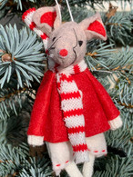 Red And White Dangly Leg Boy Mouse