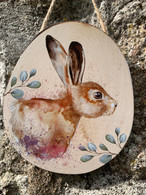 Hanging Hare Plaque
