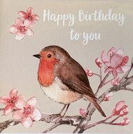 Robin Happy Birthday Card
