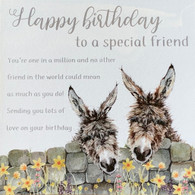 Donkey Happy Birthday Card