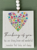Thinking Of You - Hanging Plaque