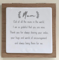 Mum - Forever Wooden Card