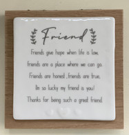 Friend - Forever Wooden Card