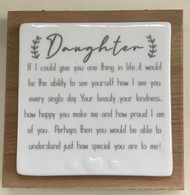 Daughter -Wooden Forever Card