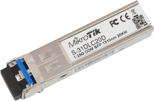 MikroTik S-31DLC20D 1.25G SFP transceiver 1310nm Dual LC connector,up ( S 31DLC20D )