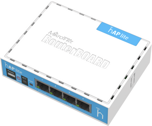 Mikrotik RB941-2nD hAP Lite with power supply and enclosure (RouterOS L4) ( RB941 2nD )