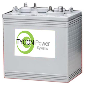 Tycon Systems TPBAT6-180 6V 180AH GEL SEALED LEAD ACID BATTERY (TPBAT6-180)