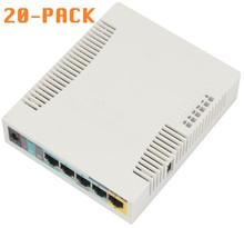 MikroTik RB951Ui-2HnD 5-Port Wireless AP 1000mW (20-PACK)