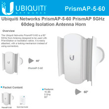 Ubiquiti Networks PrismAP-5-60 PrismAP-5 60° Isolation Antenna Horn (PrismAP-5-60)