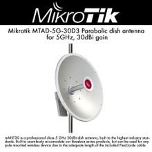 MikroTik MTAD-5G-30D3 5GHz 30dBi Dish Standard Mount (MTAD-5G-30D3)