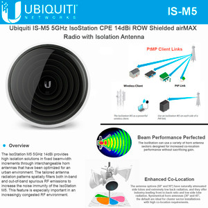 Ubiquiti IS-M5 5 GHz isoStation, airMAX (IS-M5)
