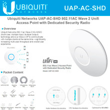 Ubiquiti Networks UAP-AC-SHD 802.11AC Wave 2 AP w/ Dedicated Security Radio (UAP-AC-SHD)