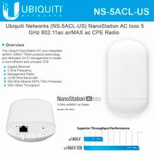 Ubiquiti airMAX NS-5ACL-US NanoStation AC Loco 5Ghz 802.11ac (NS-5ACL-US)