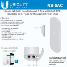 Ubiquiti NS-5AC 5GHz NanoStation 5AC ROW (NS-5AC)
