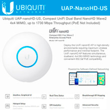 Ubiquiti UniFi nanoHD Compact 802.11ac Wave2 MU-MIMO Enterprise AP (UAP-NanoHD-US)