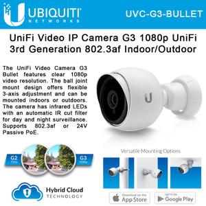 Ubiquiti UVC-G3-Bullet UniFi G3 Series 1080p Outdoor Bullet Camera (UVC-G3-Bullet)