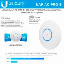 UAP-AC-PRO-E UniFi Access Point Enterprise Wi-Fi System (PoE Not Included) (UAP-AC-PRO-E)