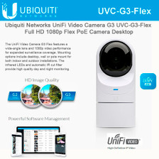 Ubiquiti UVC-G3-Flex Video Camera G3 Full HD 1080p Flex PoE Camera w/ Night Vision (UVC-G3-FLEX)