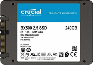 Crucial BX500 240GB 3D NAND SATA 2.5-Inch Internal SSD (CT240BX500SSD1)