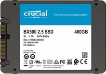 Crucial BX500 480GB 3D NAND SATA 2.5-Inch Internal SSD (CT480BX500SSD1)