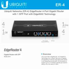 Ubiquiti ER-4 4-Port EdgeRouter with EdgeMAX Technology (ER-4)