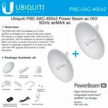 Ubiquiti PBE-5AC-400-US - 5GHz PowerBeam ac airMAX Bridge 400mm (2-Pack)