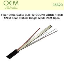Fiber Optic Cable Bulk 12 COUNT ADSS FIBER 120M Span G652D Single Mode 2KM Spool (35620)