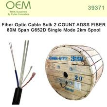 Fiber Optic Cable Bulk 2 COUNT ADSS FIBER 80M Span G652D Single Mode 2km Spool (39371)