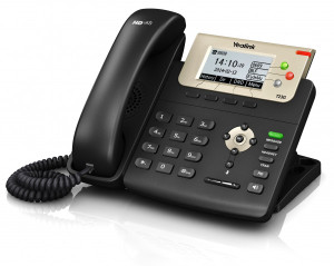 Yealink SIP-T23G IP Phone, 3 Lines. 2.8-Inch Graphical LCD, Dual-Port 10/100 Ethernet, 802.3af PoE, Power Adapter Not Included (SIP-T23G)