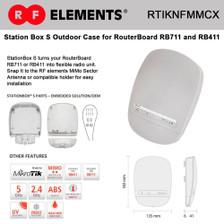 RF Elements RTIKNFMMCX StationBox S preinstalled N-female to MMCX outdoor enclosure