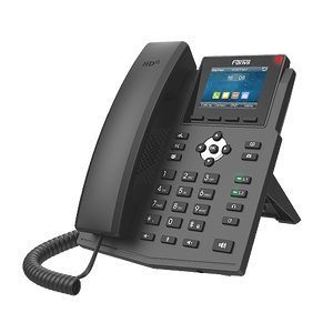 Fanvil X3SG dual Gigabit ports Entry Level IP Phone 4 SIP 2 Line 2.8 color display PoE HD audio