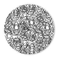 Begsonland Rose Circle Doodle Decal