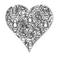 Begsonland Rose Heart Doodle Decal