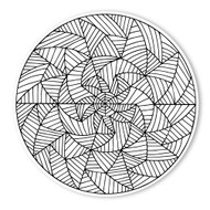 Begsonland Mandala Spiral Doodle Decal