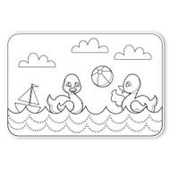 Caleb Gray Studio Coloring: Beach Toys Ducky