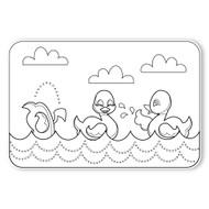 Caleb Gray Studio Coloring: Splashing Ducky