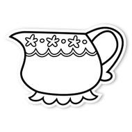 Caleb Gray Studio Coloring: Tea Party Creamer