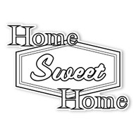 Caleb Gray Studio Coloring: Home Sweet Home Retro Sign