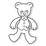 Caleb Gray Studio Coloring: Teddy Bear Vest