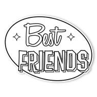 Caleb Gray Studio Coloring: Best Friends Retro Sign