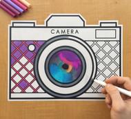 Caleb Gray Studio Coloring: Retro Snapshot Camera