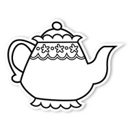 Caleb Gray Studio Coloring: Tea Party Teapot