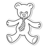 Caleb Gray Studio Coloring: Teddy Bear Neck Tie