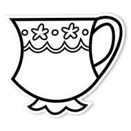 Caleb Gray Studio Coloring: Tea Party Teacup