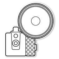Caleb Gray Studio Coloring: Flash Bulb Camera